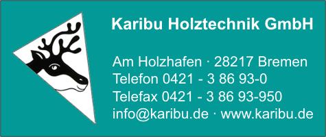 Turbo Karibu Holztechnik GmbH in Bremen - Branche(n): Blockhäuser WZ51